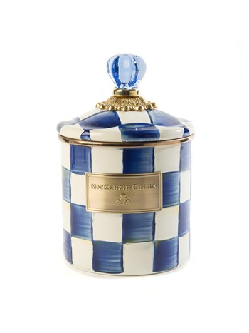 royal check canister small
