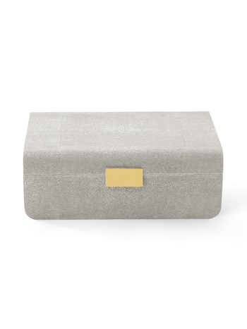 dove shagreen modern large jewelry box