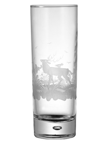 stag crystal highball glass