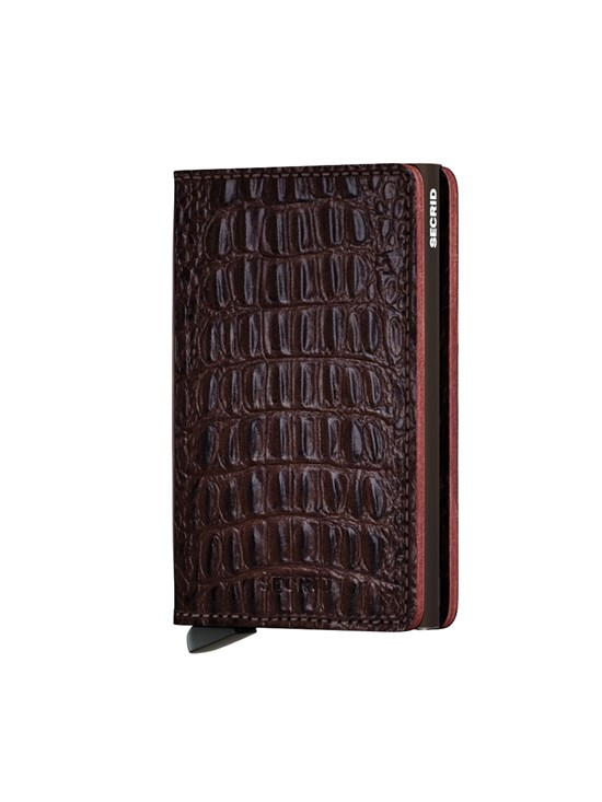 slim wallet nile brown