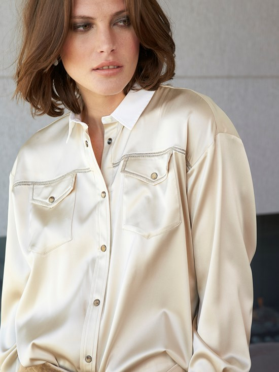 western silk stretch shirt