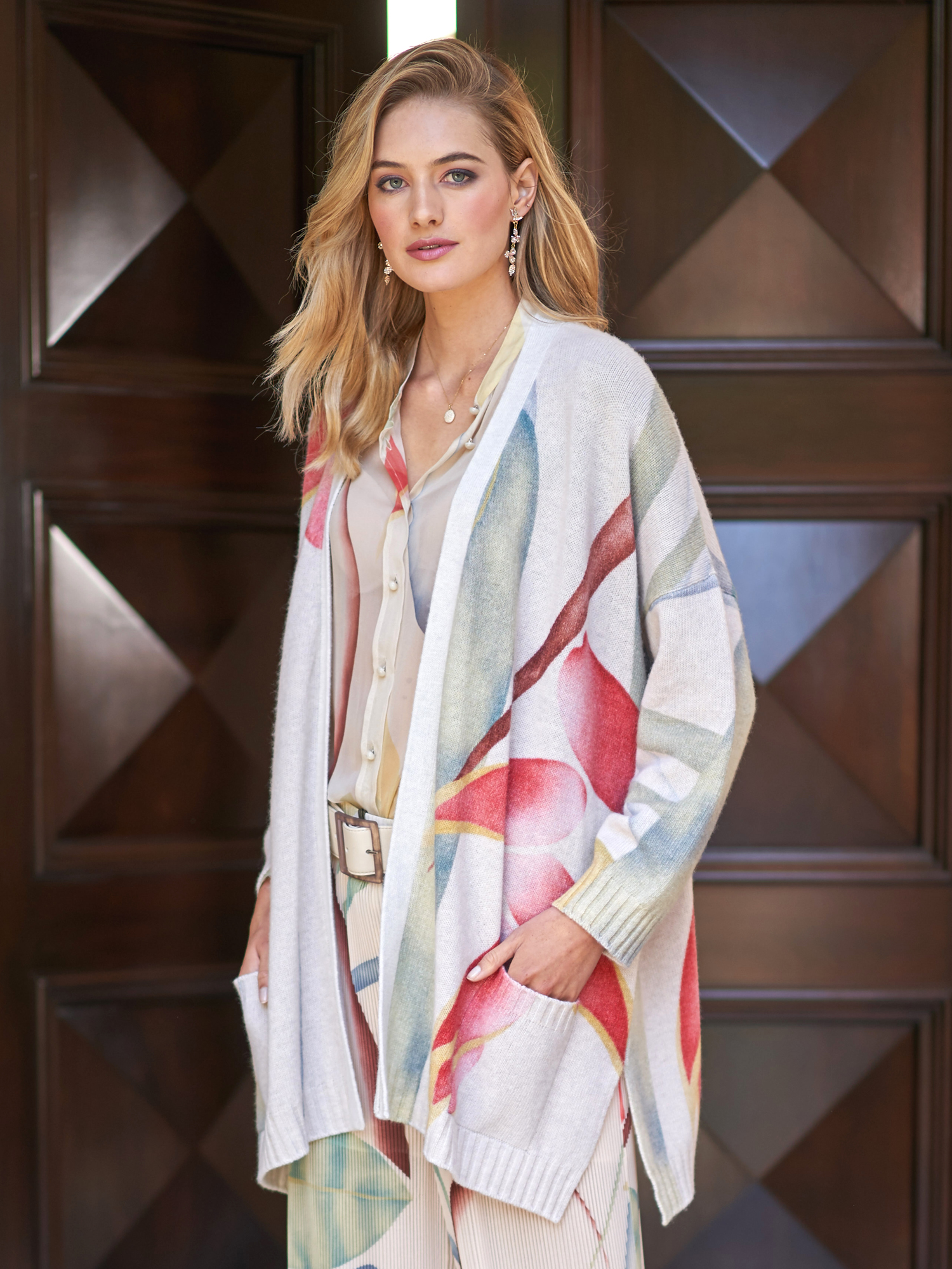 60 Best Images About Style Scarves On Pinterest: Ceel Foliage Print Cardigan