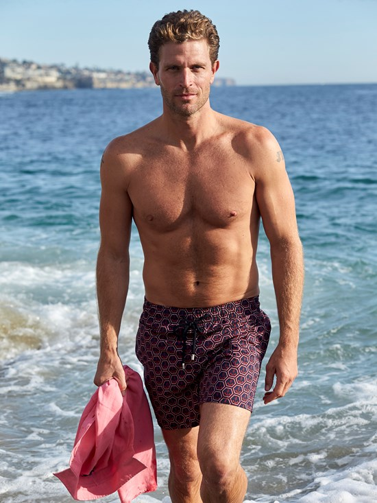 morea anchor print swim shorts