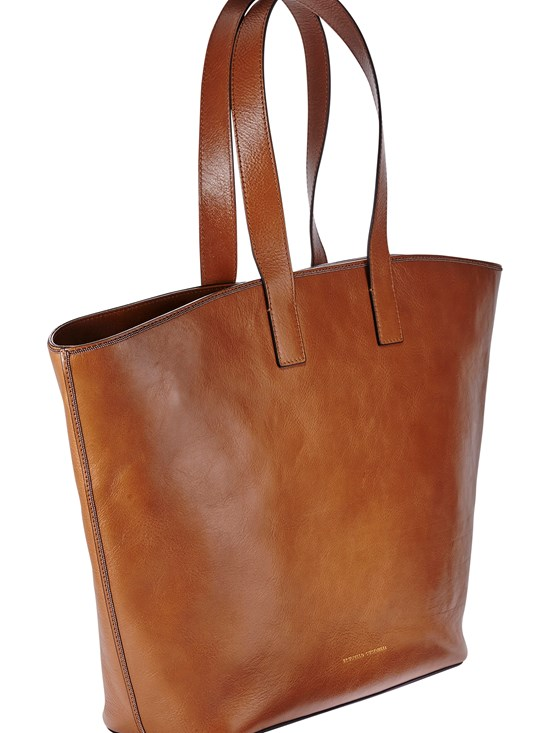 gloss leather tote