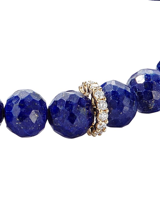 lapis pave diamond eternity bracelet