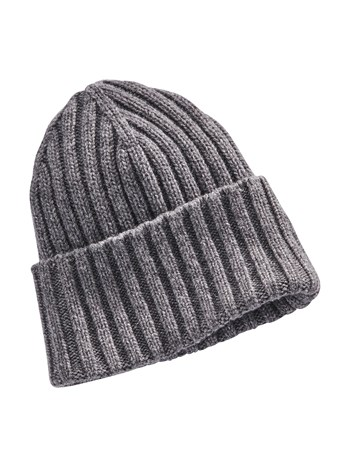 alessandro rib knit cashmere hat