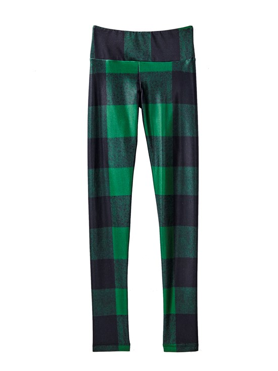green lumberjack legging