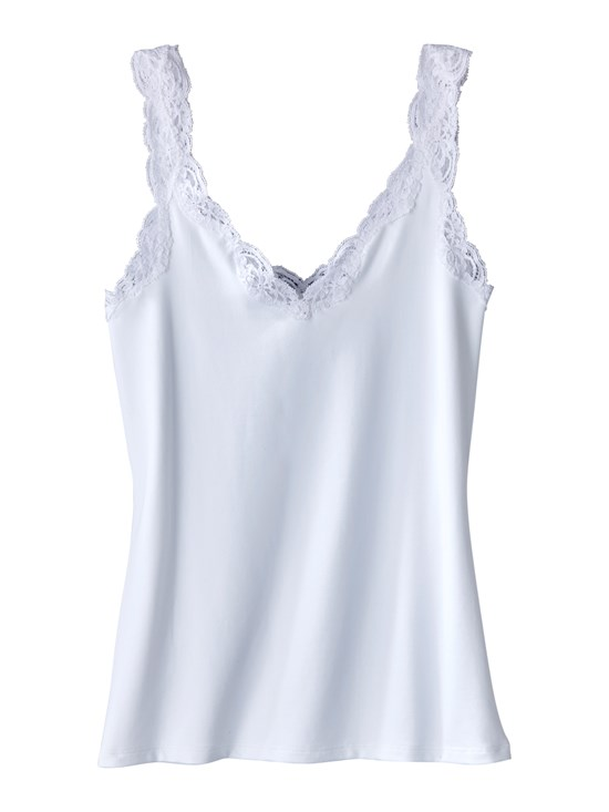 berry lace trim tank