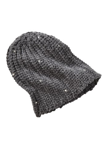 mars crystal cashmere knit hat