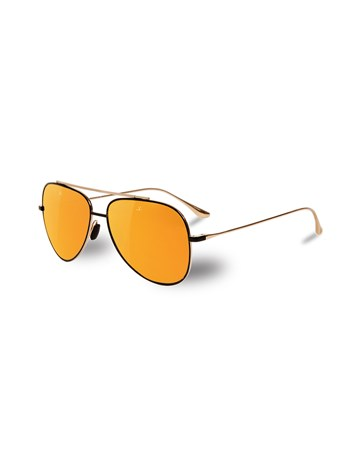 gold matte black sunglasses 58mm