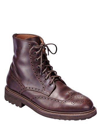 wingtip leather boot
