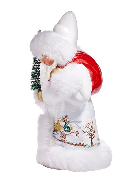 santa with white coat