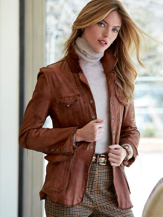 meryl nappa leather jacket