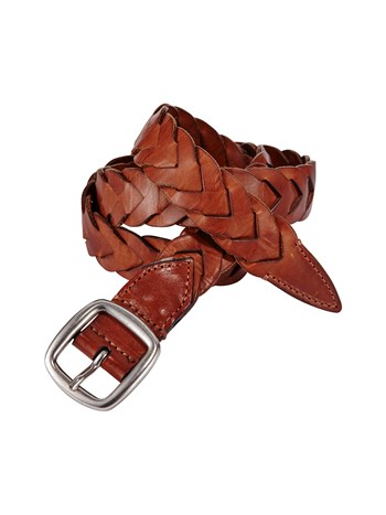 charlie braided leather belt