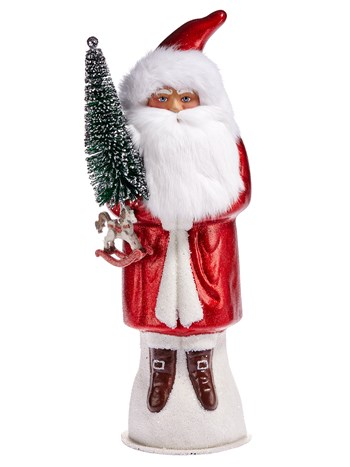 bearded red santa