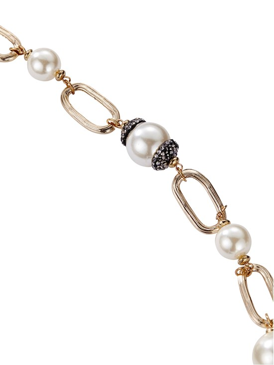 raquel large chain pearl necklace