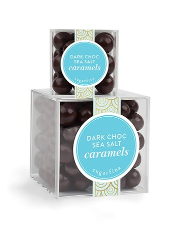 dark chocolate  and sea salt caramels