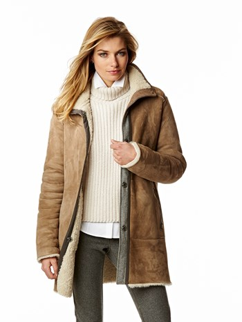 milena shearling coat