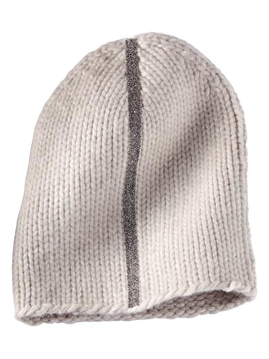 8eff9ed7a74443 antonia cashmere stripe knit hat - Gorsuch