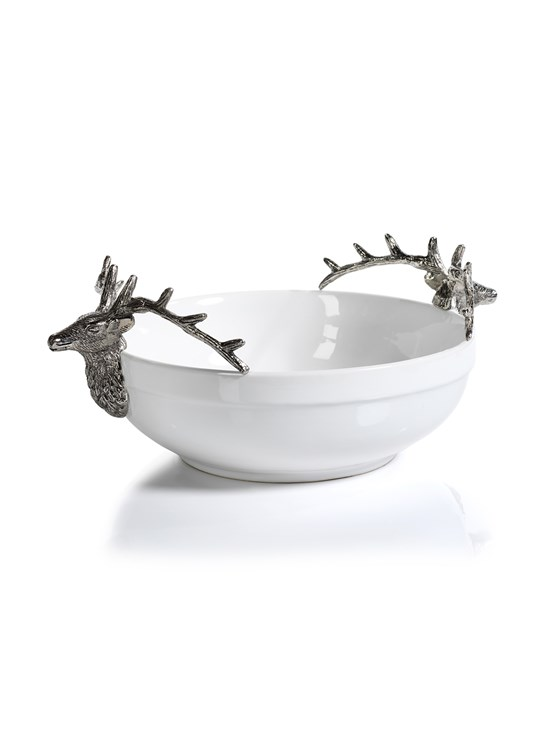 ceramic stag bowl large