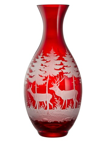 engraved crystal stag carafe