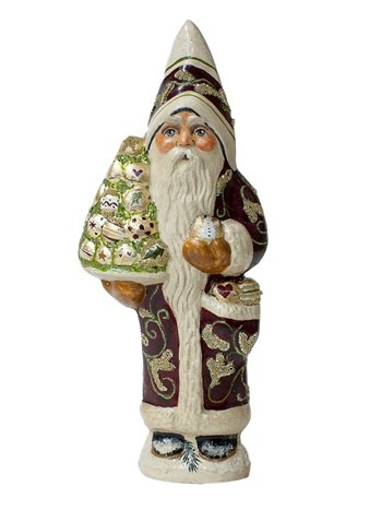 gold ornament santa