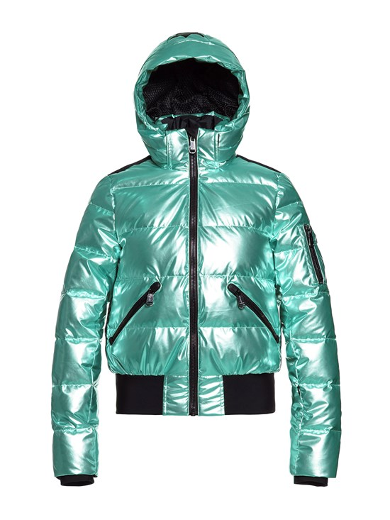 aura metallic down ski jacket