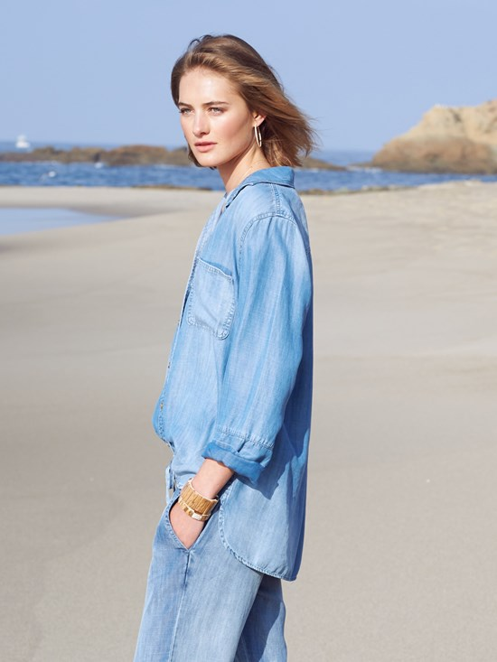 bree tencera denim shirt