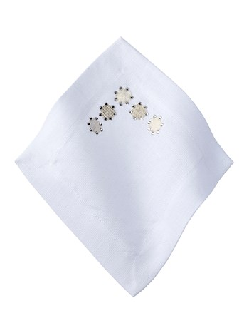 rhinestone dot cocktail napkin