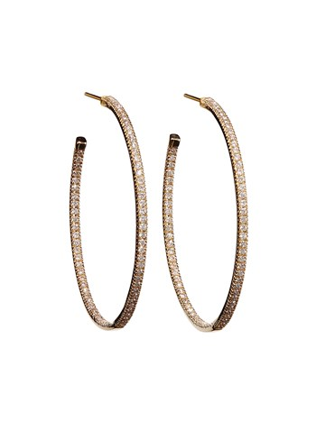 large pave diamond hoop
