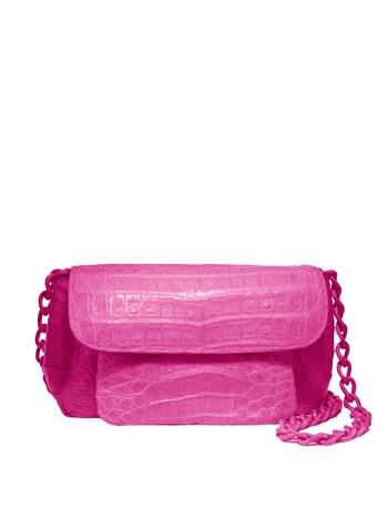 croc three gusset handbag