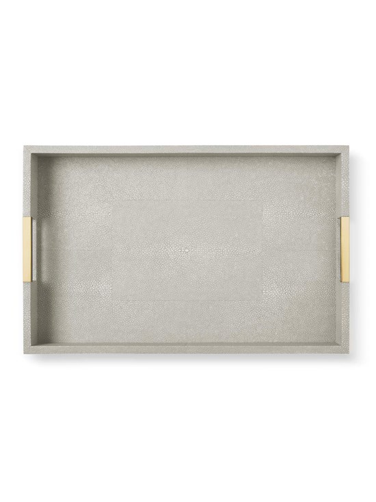 dove shagreen modern desk tray