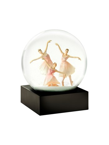 trio dancers snow globe