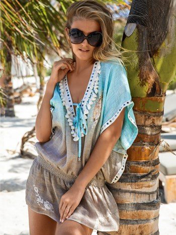 verity ombre linen tunic