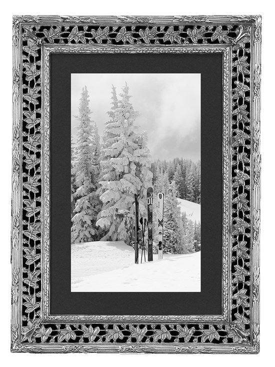 laurel leaves pewter frame 8x10