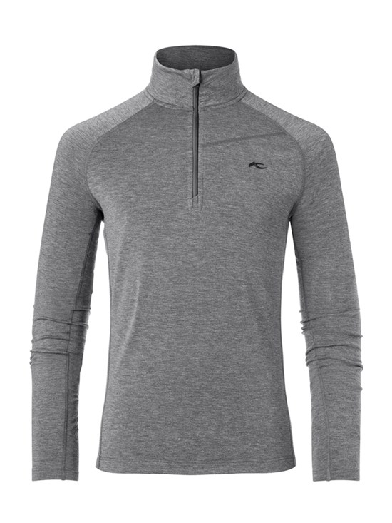trace melange half zip turtleneck