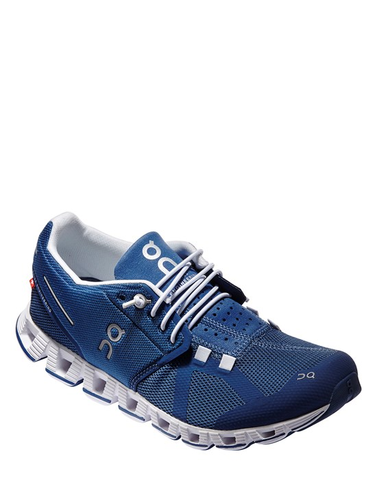 cloud denim/white running shoe