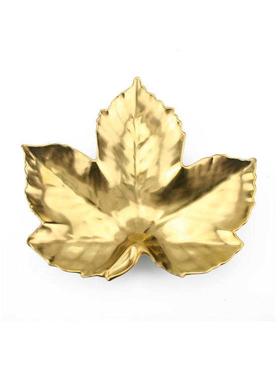 maple gold leaf dish