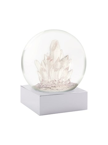 crystals snow globe