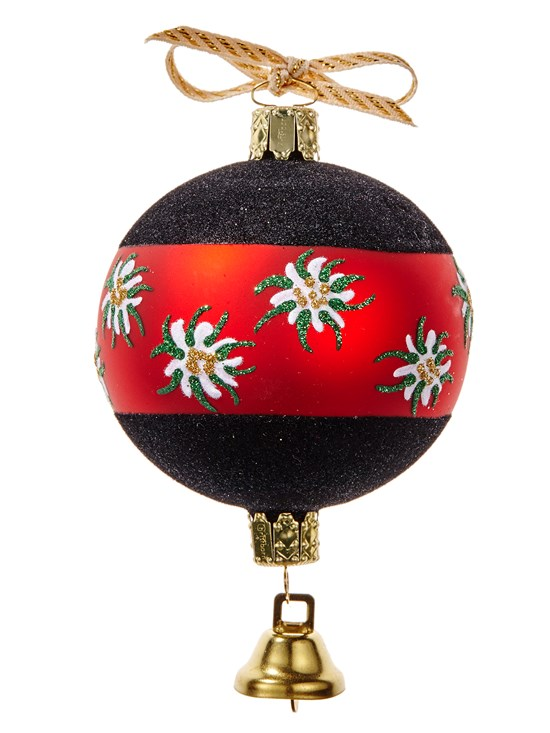 edelweiss ball ornament