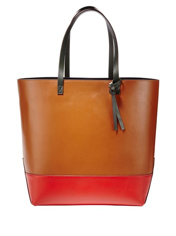 bianca leather tote