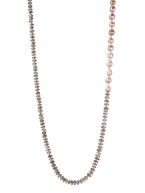marta labradorite and blush pearl necklace
