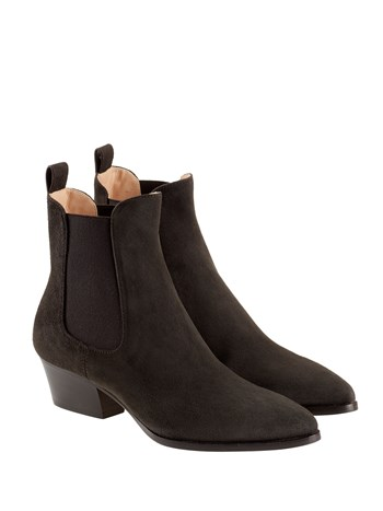 ann suede chelsea boot