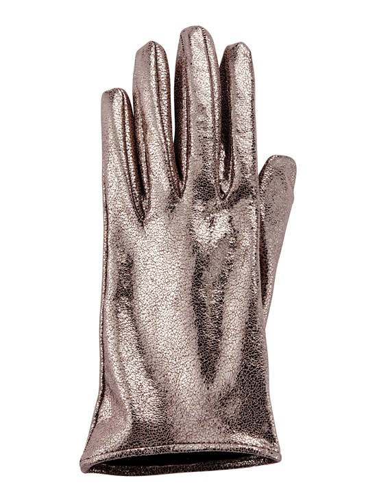 sparkling nappa leather glove