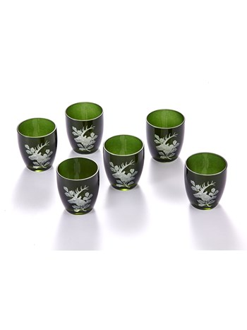 engraved schnaps glasses - set of 6