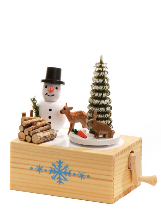 winter snowman music box