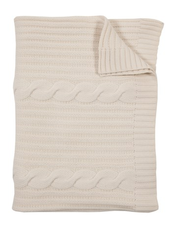 roma cashmere cable throw