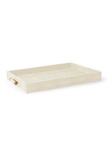 cream shagreen classic large butler tray