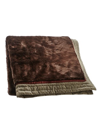 loden trim throw