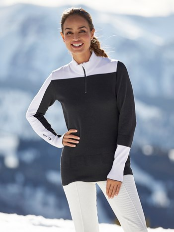 montalina half zip turtleneck ski sweater
